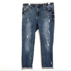 Kenneth Cole Reaction Distressed Cropped Jeans